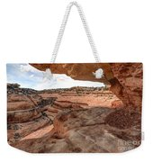 Cliff Overhang In Southwest Sandstone Canyon - Utah Weekender Tote Bag by Gary Whitton