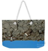 Cliff Swallows At Nests Weekender Tote Bag