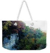 Rock Cliff With Trees Weekender Tote Bag