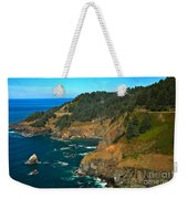 Cliffs At Cape Foulweather Weekender Tote Bag by Adam Jewell
