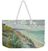 Cliffs By The Sea At Trouville  Weekender Tote Bag by Gustave Caillebotte