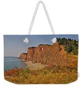 Cliffs Of Cape D'or From A Promontory Over Advocate Bay-ns Weekender Tote Bag