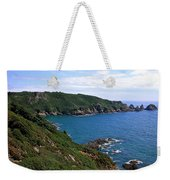Cliffs On Isle Of Guernsey Weekender Tote Bag