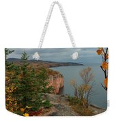 Cliffside Fall Splendor Weekender Tote Bag