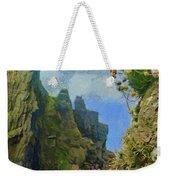Cliffside Sea Thrift Weekender Tote Bag by Jeff Kolker
