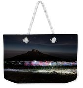 Climbers Trace Ghostly Shapes Weekender Tote Bag