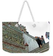 Climbing Many Steps At Temple Of The Dawn-wat Arun In Bangkok-th Weekender Tote Bag