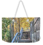 Climing Into Autumn Weekender Tote Bag