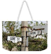 Clinton And Gore Weekender Tote Bag