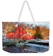 Clinton Mill In Winter Weekender Tote Bag