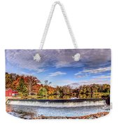 Clinton Nj Historic Red Mill Pano Weekender Tote Bag