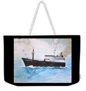 Clipper Epic Longline Fishing Boat Nautical Chart Map Art Weekender Tote Bag
