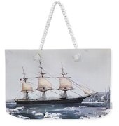 Clipper Ship Red Jacket In The Ice Off Cape Horn On Her Passage From Australia To Liverpool Weekender Tote Bag