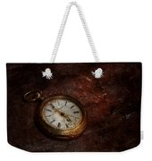 Clock - Time Waits Weekender Tote Bag by Mike Savad