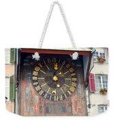 Clock Tower In Solothurn Weekender Tote Bag
