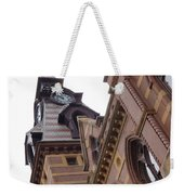Clock Tower In New Haven Connecticut Weekender Tote Bag
