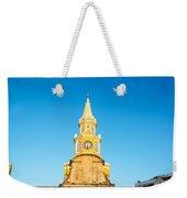 Clock Tower Of Cartagena Weekender Tote Bag