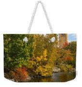 Clocktower In Fall Weekender Tote Bag