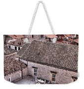Cloistered Garden And Tower In The White City Weekender Tote Bag