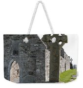 Clonmacnoise Cathedral  And High Cross Ireland Weekender Tote Bag