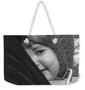 Close To My Daddy Monochrome Weekender Tote Bag
