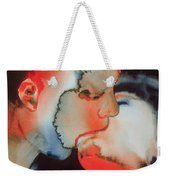 Close Up Kiss Weekender Tote Bag