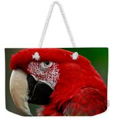 Close Up Of A Gorgeous  Green Winged Macaw Parrot. Weekender Tote Bag