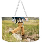 Close-up Of A Male Hiker Weekender Tote Bag
