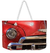 Close Up Of A Red Chevrolet Weekender Tote Bag