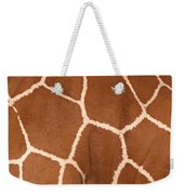 Close-up Of A Reticulated Giraffe Weekender Tote Bag