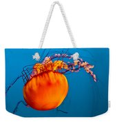 Close Up Of A Sea Nettle Jellyfis Weekender Tote Bag