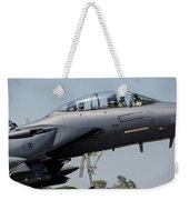 Close-up Of A U.s. Air Force F-15e Weekender Tote Bag