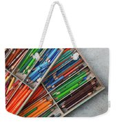 Close-up Of Color Pencils, Ishoj Weekender Tote Bag