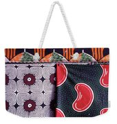 Close Up Of Colorful Khangas For Sale Weekender Tote Bag
