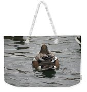 Close Up Of Duck Back Weekender Tote Bag