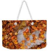 Close-up Of Fallen Maple Leaves Weekender Tote Bag
