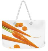 Close-up Of Fresh Carrots Weekender Tote Bag