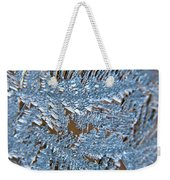 Close Up Of Frost Weekender Tote Bag