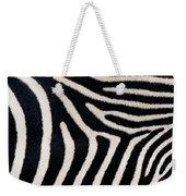 Close-up Of Greveys Zebra Stripes Weekender Tote Bag