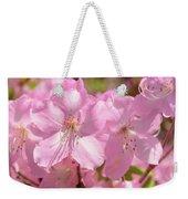 Close Up Of Pink Shell Azalea Flowers Weekender Tote Bag