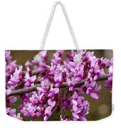 Close-up Of Redbud Tree Blossoms Weekender Tote Bag