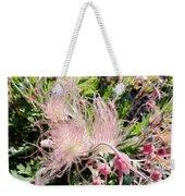 Close-up Of The Prairie Smoke Wildflower Weekender Tote Bag