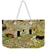 Close-up Of Tufa-carved Homes In Cappadocia-turkey Weekender Tote Bag