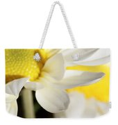 Close Up Of White Daisy Weekender Tote Bag