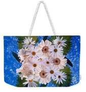 Close Up Of White Daisy Bouquet Weekender Tote Bag