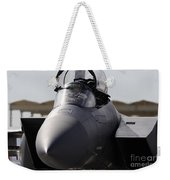 Close-up View Of A F-15c Eagle Weekender Tote Bag