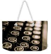 Close Up Vintage Typewriter Weekender Tote Bag by Edward Fielding