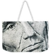 Closeup Of A Five Dollar Bill Weekender Tote Bag