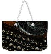 Closeup Of Antique Typewriter Weekender Tote Bag