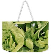 Closeup Of Boston Lettuce Weekender Tote Bag